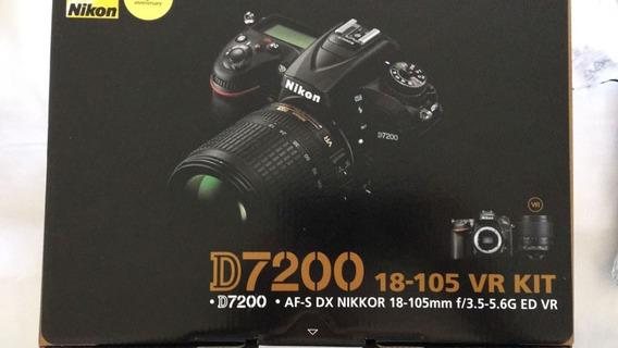 Câmera Nikon D7200 18-105mm + Lente Nikon 50mm 1.8 D + Kit