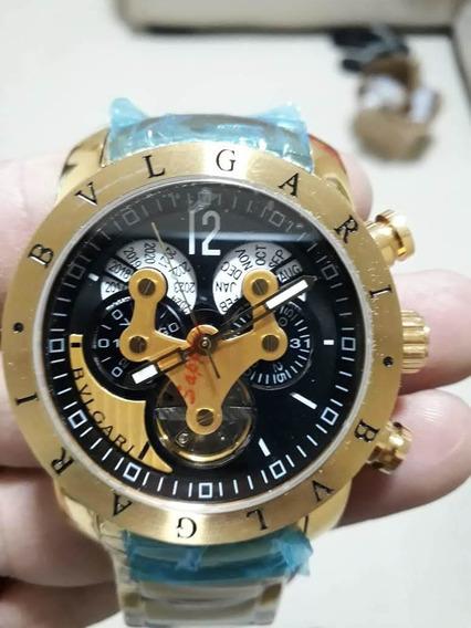 Relógio Bvlgari Veron A Prova Dgua Todo Funcional Com Cáixa