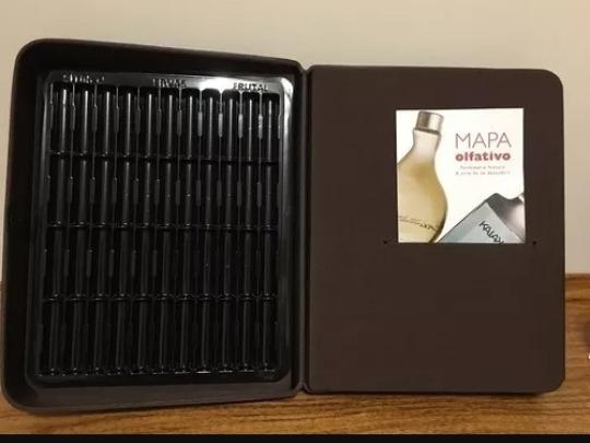 Estojo Demonstrador Porta Perfume Natura Marrom Pasta Vazia