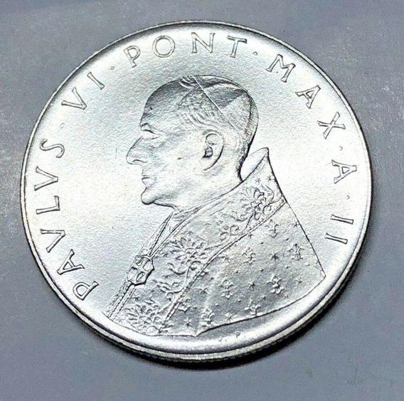Vaticano Escasas 100 Liras 1964 Fides - Pavlvs Vi- Km#82.2