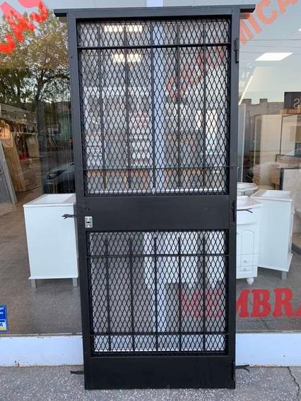 Puerta Reja Mosquitero Malla Seguridad Reforzada Con Marco
