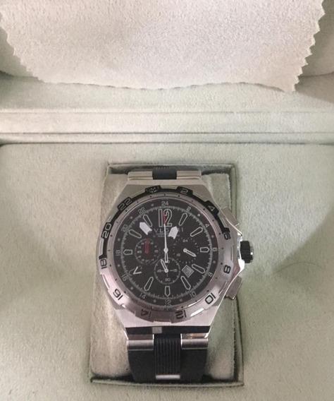 Relógio Hht5623 Bv Prata E Preto Borracha Lançamento 2020