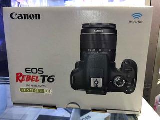 Cámara Canon T6 Nuevo Sellado