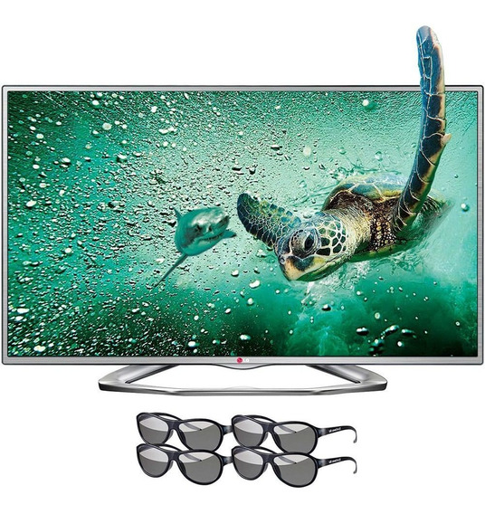 Tv 3d 42 Lg Com 4 Óculos Led Ful Hd * Nao É Smart*