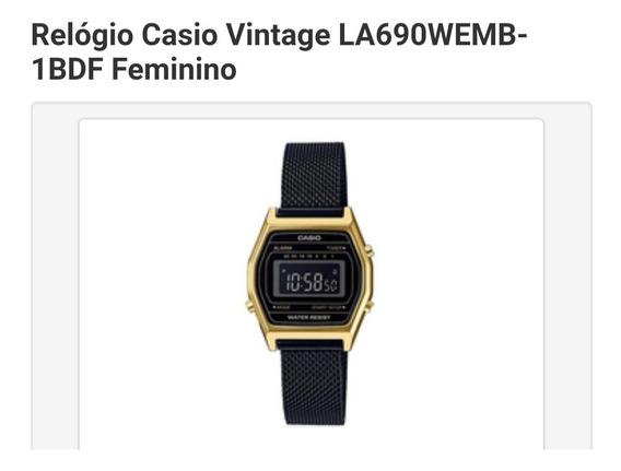 Relógio Casio Vintage La690wemb-1bdf Feminino