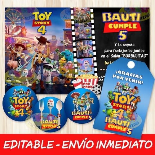 Kit Imprimible Toy Story 4 Editable Decoración Candy Bar