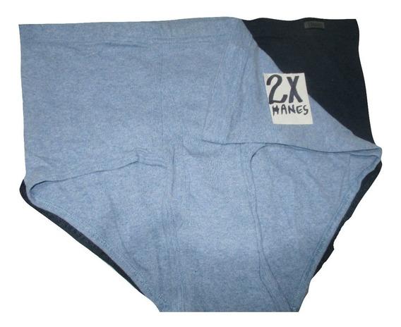 Calzones Azules Tipo Truza De Hombre Talla 2x Hanes