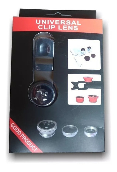 Lentes Celular Kit 3x1 Fisheye+macro+wide P/ iPhone Todos