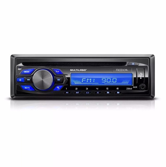 Radio Cd Player Multilaser Mp3 Freedom - P3239