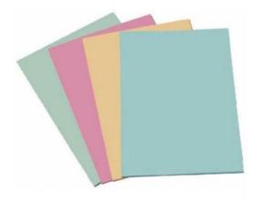 50 Folhas Papel Cartolina Cores 140gr Papelaria Arte Escolar