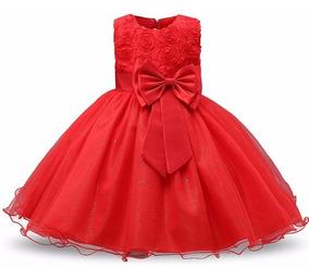 Vestido De Festa Infantil Luxo Princesa Batizado Aniversário