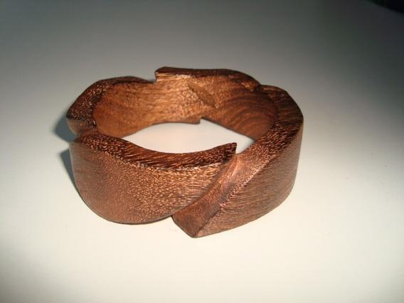 Pulseira Bracelete Madeira Tonalizada Acobreada Indiana 24