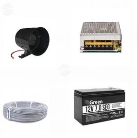 Kit Bateria Selada 12v 7,0 Cerca Elétrica Nobreak Green