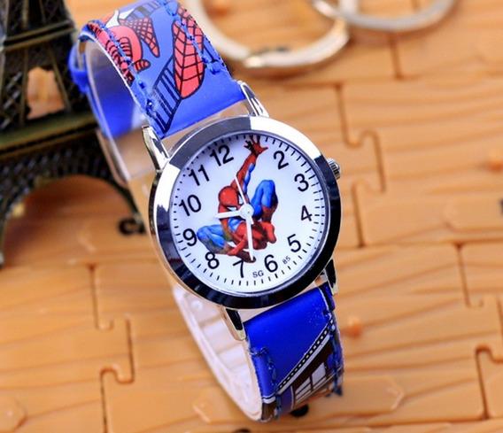 Relógio Homem Aranha Pulseira Azul Rg010c Promoção!!!