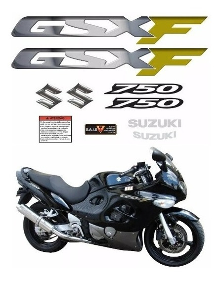 Kit Adesivos Suzuki Gsx 750f Gsxf 750 Preta Ca-12889