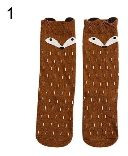 Calcetas Para Niñas Y Niños, Moda Del Zorro