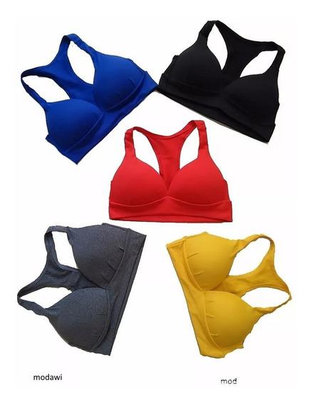 Top Cropped Fitness Com Bojo Nadador Em Suplex