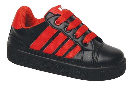 Zapatillas Plumitas Oficial Strike Para Chicos Negro/rojo
