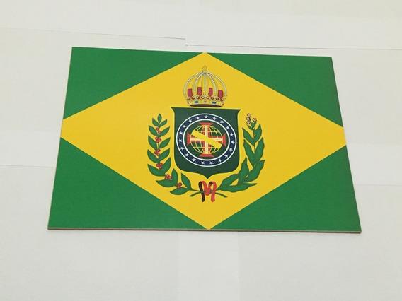 Placa Quadro Decorativo Da Bandeira Do Brasil Império 28x20