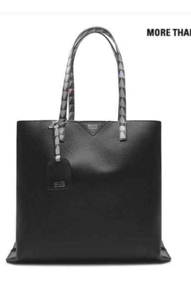 Shopping Bag Minimal Triangle Black. Bolsa Schutz Original