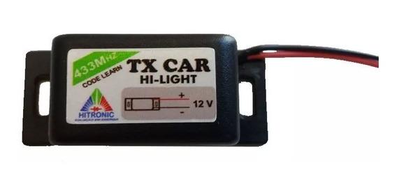Controle Portão Tx Car À Prova De Água Farol Alto Carro Moto