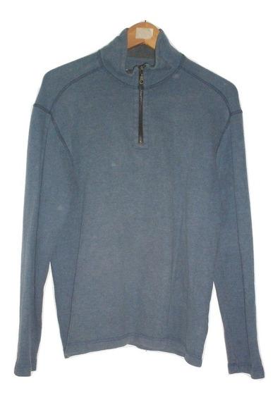 Usad Suéter Azul Con Medio Cierre Hombre Talla M $239a