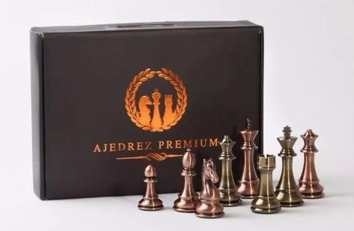 Juego Ajedrez Premium Broce Cobre+tablero Madera