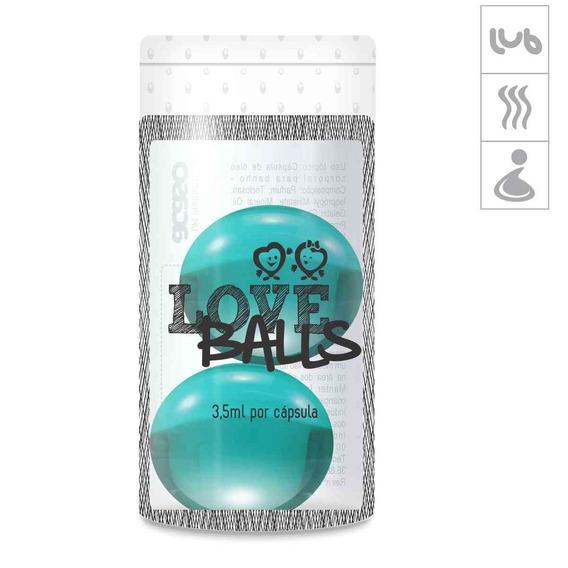 Bolinha Aromatizada Love Balls 2un - Azul