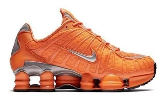 Tênis Masculino Nike 12 Molas Tl Laranja Original Na Caixa