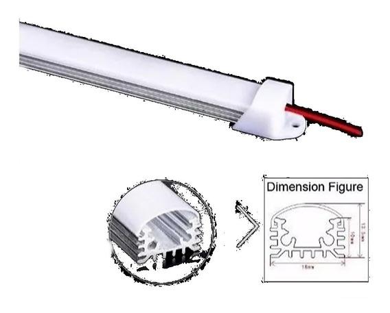 10 Suporte Trilho C/ Capa P/ Barra De Led 1metro Transparent