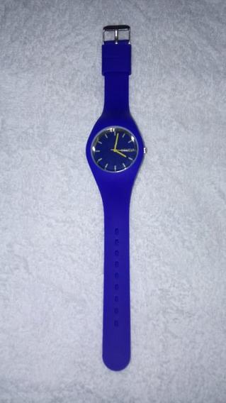 Relogio De Pulso Azul Silicone, Cod. 00159