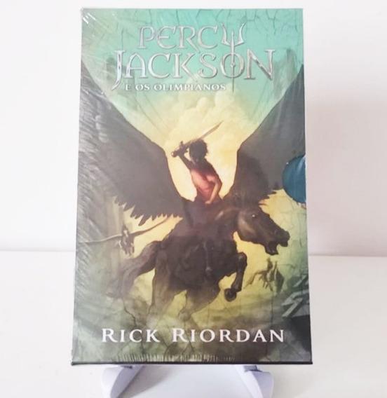 Box Livro Percy Jackson E Os Olimpianos (5 Volumes)lacrado