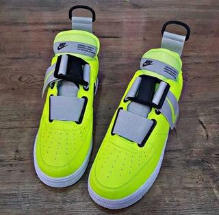 Tenis Nike Air Force One [ Croki Croqui ] Verde Lumínico