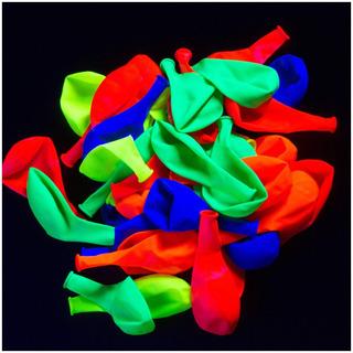 Globos De Fiesta Fluorescentes Y Neones Reactivos Con Luz