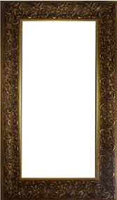 Espelho Decorativo Com Moldura Dourada
