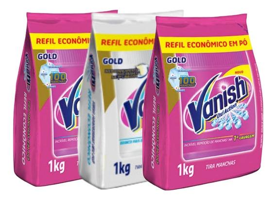 Kit Vanish Tira Manchas Pó Roupas Brancas E Coloridas