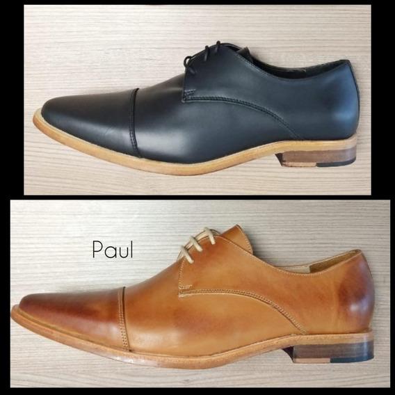 Zapatos De Cuero Hombre