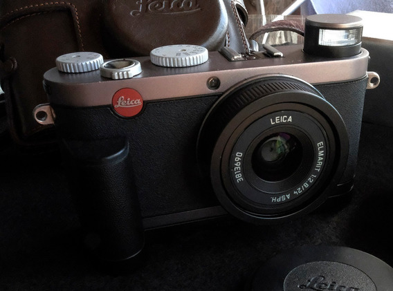 Câmera Leica X1 Grafite12mp 24mm F/2 Case Grip Orig Promoção