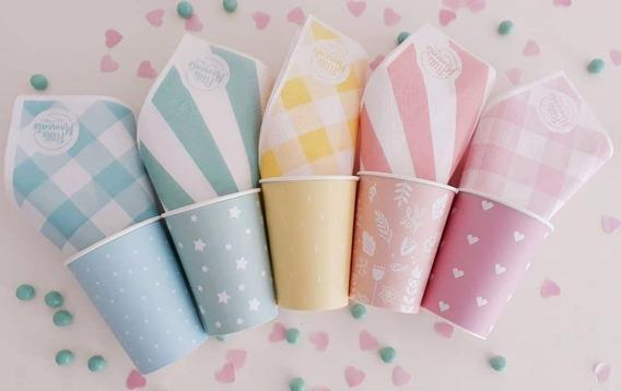 Kit Descartables Para Cumpleaños, Bautismos, Baby Shower