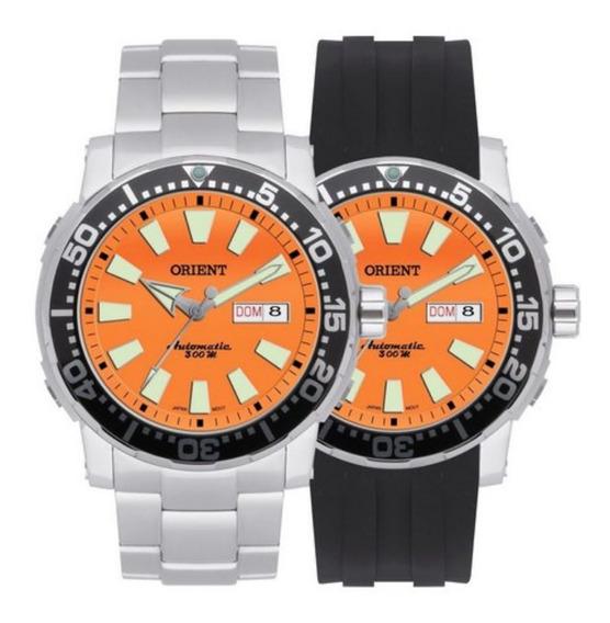 Kit Relógio Orient Automático Poseidon 469ss040 V. Laranja