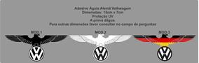 Adesivo Volkswagen Aguia Alemã Gol Ap Tsi Turbo