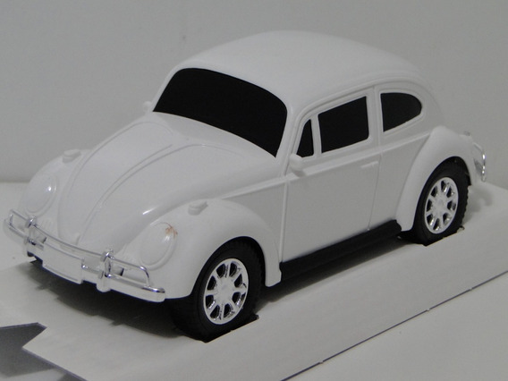 Nova Miniatura Fusca Branco 1966 Carrinho Coleção Volkswagem
