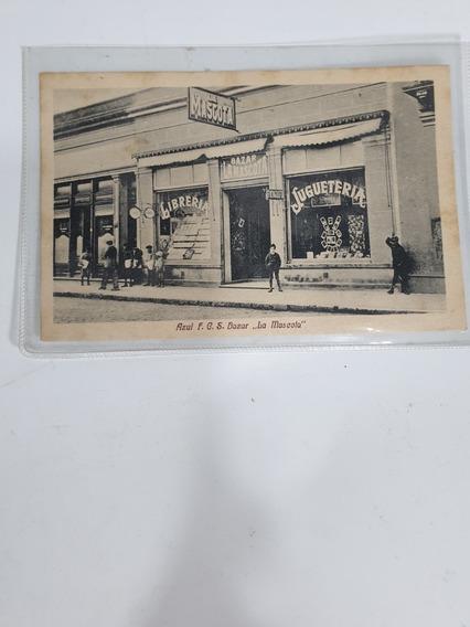 Antigua Postal Bazar La Mascota- Azul-1921