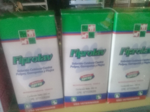 Spray Fiprolav 100 Ml  Para Eprros Y Gatos