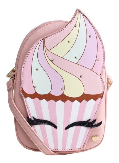 Bolsa Infantil Pampili Cupcake Rosa 600725