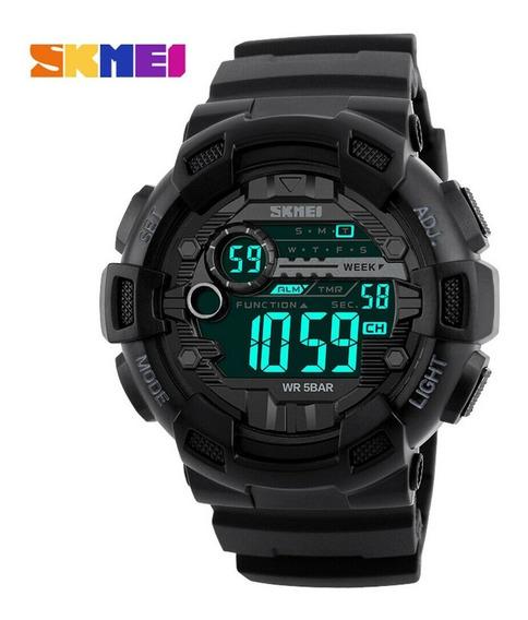 Relógio Masculino Skmei Digital 1243 Preto Moderno E Elegante