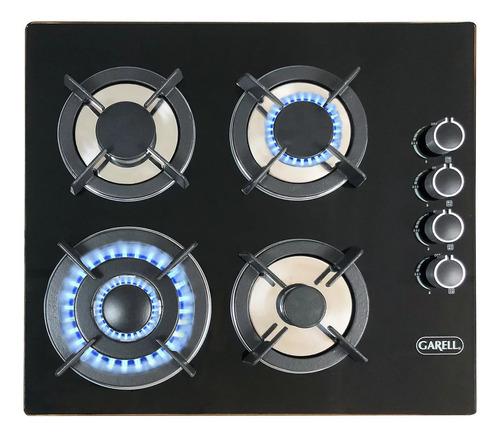 Parrilla a gas Garell Cristal PEVID-4Q negra