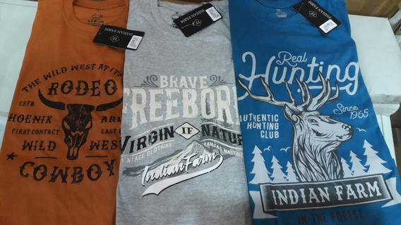 Kit Promocional De Camiseta 100% Algodão Indian Farm