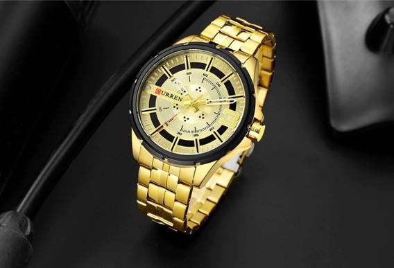 Relógio Curren Original Masculino De Luxo Envio 24h