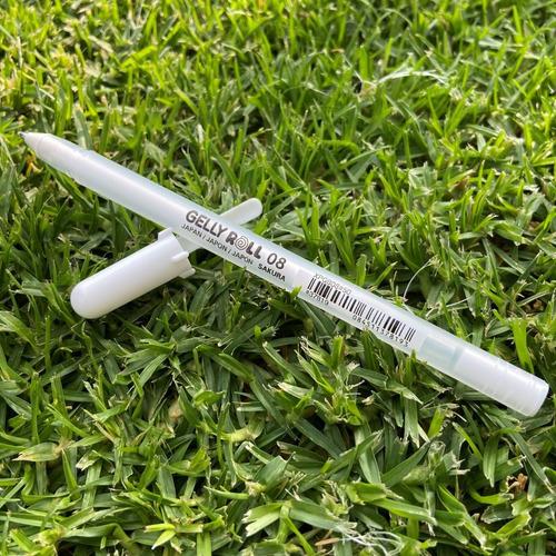 Imagen 1 de 2 de Pluma De Gel Blanca Gelly Roll Sakura Por Pieza